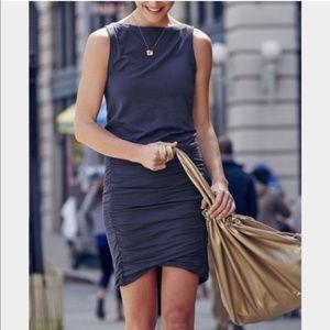 Athleta Tulip Jersey Knit Stretch Black Dress S